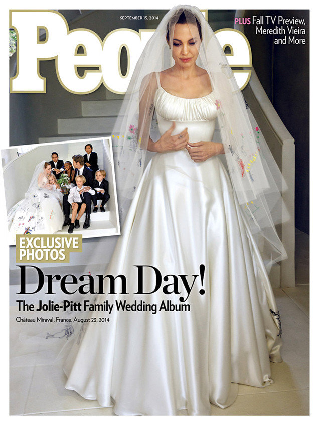 Angelina's Wedding Dress and the Veil Everyone is Talking About