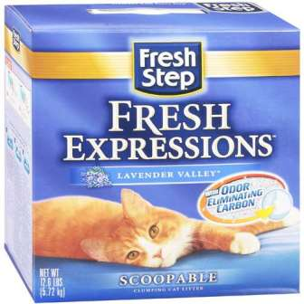 Fresh Step Fresh Expressions Lavender Valley Scoopable Cat Litter
