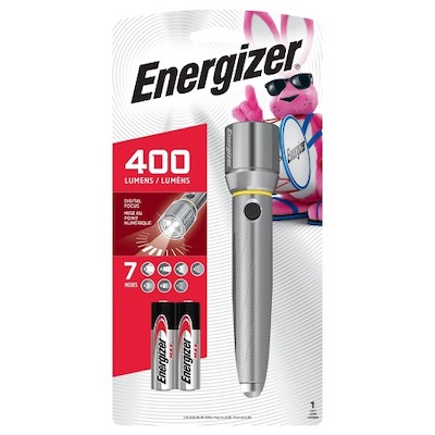 Energizer  Vision LED HD 2AA Metal Flashlight