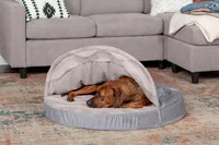 Furhaven  Plush Ergonomic Contour Cradle Orthopedic Foam Mattress Dog Bed