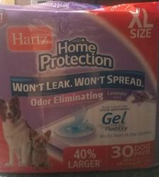 Hartz lavender gel dog training pads