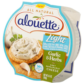 Alouette Light Garlic Herbs Soft Spreadable Cheese Shespeaks
