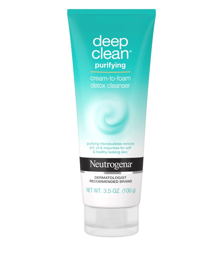 Neutrogena Deep Clean Purifying Cream to Foam Detox Cleanser