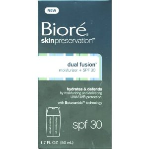 biore dual fusion moisturizer spf 30 shespeaks. Black Bedroom Furniture Sets. Home Design Ideas