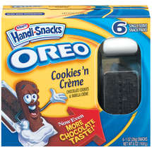 handi-snacks oreo cookiesn creme snack packs 6ct