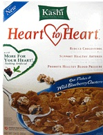 Kashi Heart to Heart Cereal Oat Flakes and Blueberry Clusters