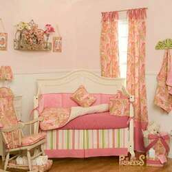 BabyBedding.com 4 piece crib set in Pink paisley