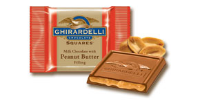 Ghirardelli  Milk Chocolate with Peanut Butter Filling Squares