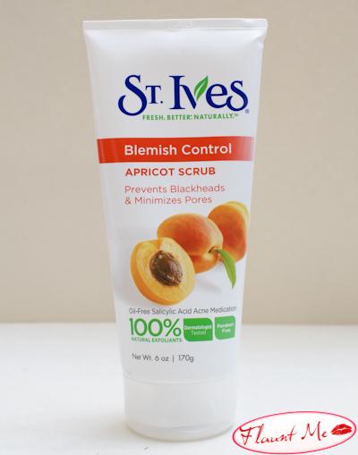 st ives blemish control apricot scrub
