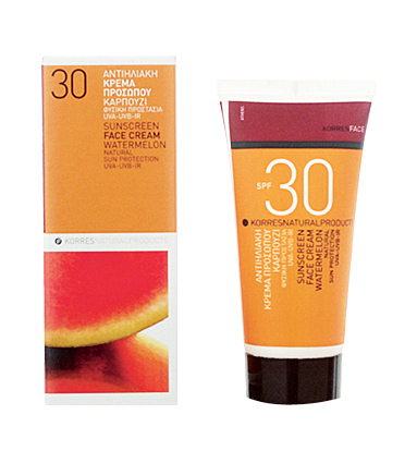 Korres Watermelon Sunscreen Face Cream SPF 30