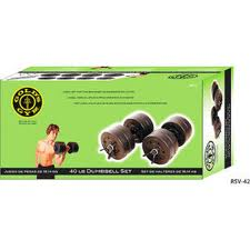 Gold's Gym 40 lb. Cement Weight Set