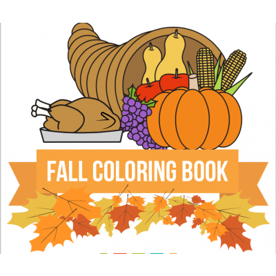 Fall Coloring Book compliments of Educents